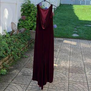 Women's ABS petites velvet Wine Colored Gown Med